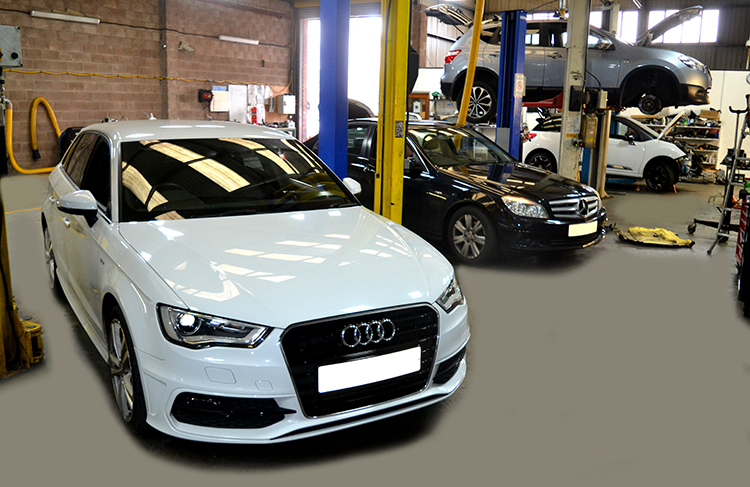 1214 Here we look at some of the recent Audi vehicle service work we carry out from our garage