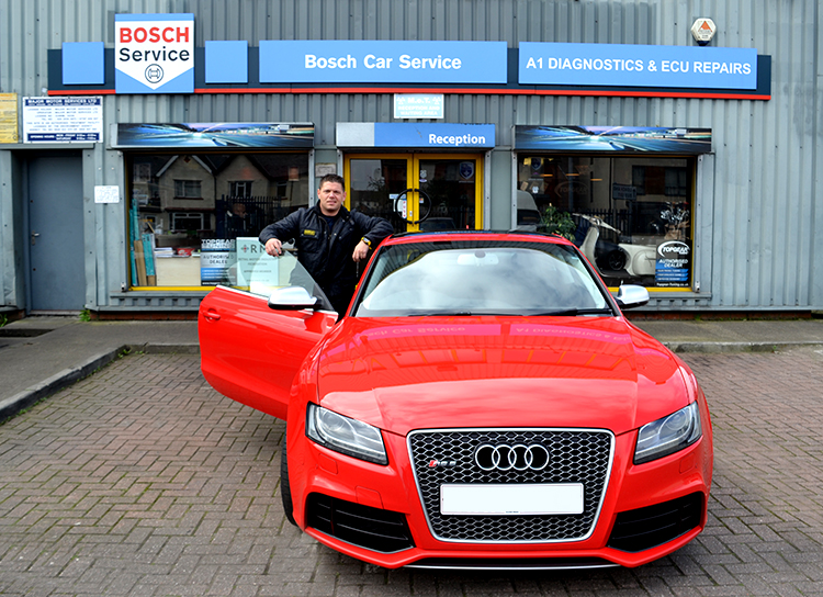 174 The Audi RS5 that featured on Top Gear now sitting in our garage having reliable vehicle service work undertaken