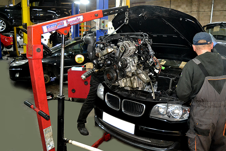 2 24 We are experts in repairing, maintenancing and rebuilding car engines from our car garage