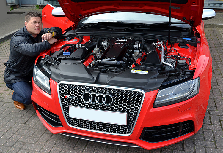 250 The Audi RS5 that featured on Top Gear now sitting in our garage having reliable vehicle service work undertaken