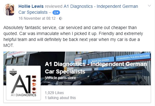 272 Five star reviews continue to be posted on our Facebook page