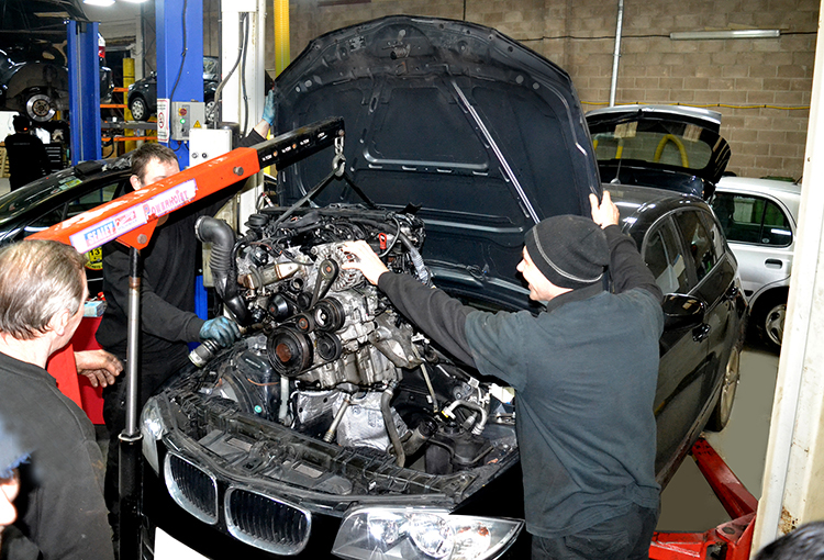 3 24 We are experts in repairing, maintenancing and rebuilding car engines from our car garage