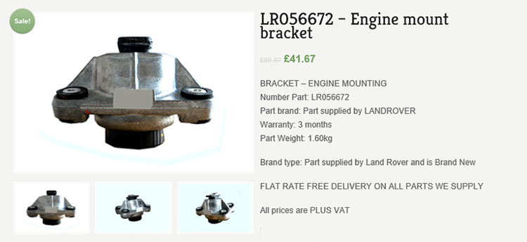 318 Our sister company Major Motors rolling out best price Land Rover vehicle parts
