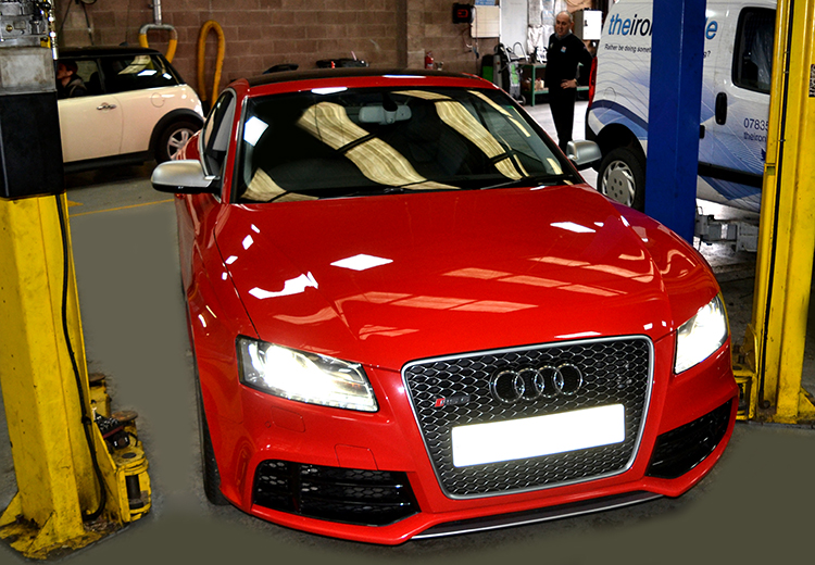 442 The Audi RS5 that featured on Top Gear now sitting in our garage having reliable vehicle service work undertaken
