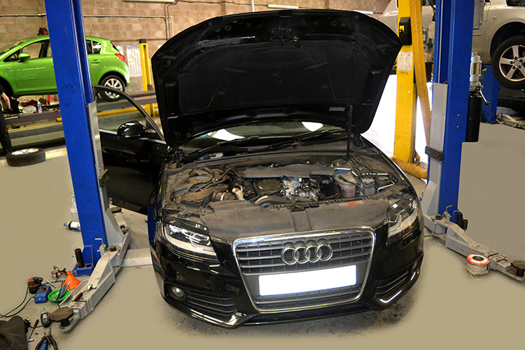 525 Here we look at some of the recent Audi vehicle service work we carry out from our garage