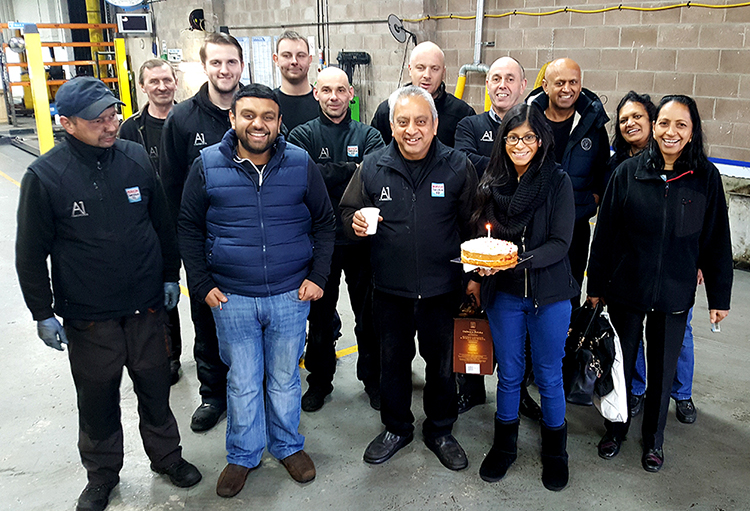 69 It is our head mechanics birthday today and he is also celebrating over 35 years in the car servicing industry