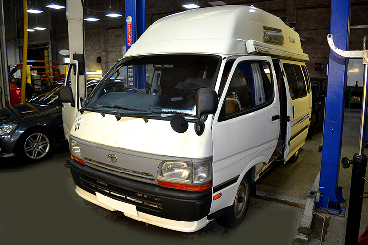 DSC 00421 We can service campervans from our Cardiff based service garage